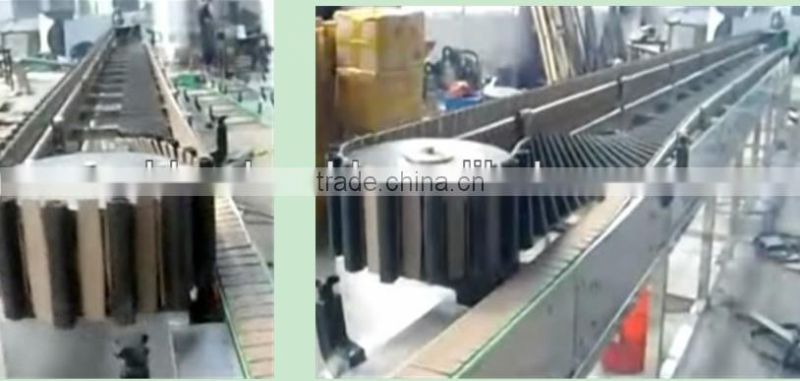 Stainless steel spray sterilizing machine with inversing conveor