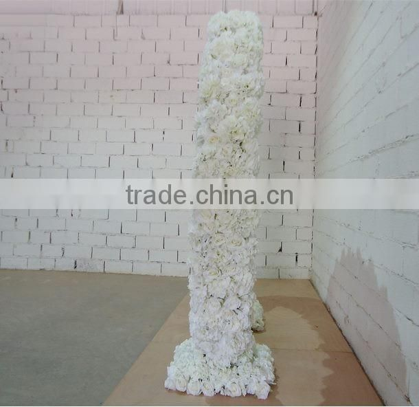 white artificial flower wall/fabric flower wall/fake flower wall