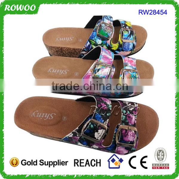 2015 new design durable good quality outdoor cork slippers wholesale