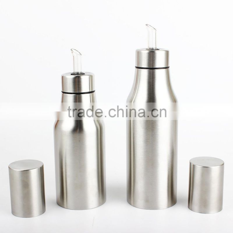 Stainless Steel Leak-proof Sauce/Vinegar/Oil Pot - Home Premium Quality Oil Bottle/Olive Oil Dispenser-Sliver