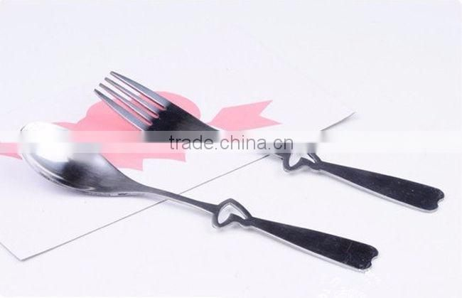 copper coloure antique shiny stainless steel cutlery