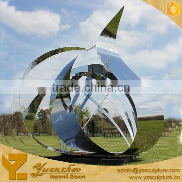 outdoor stainless steel large abstract sculpture for sale