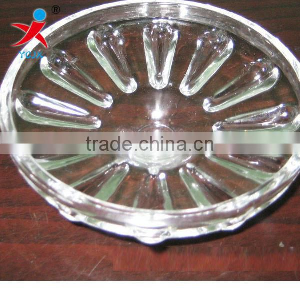 crystal lighting accessories/customized crystal/glass lampshade clip/crystalline light disc/lighting a