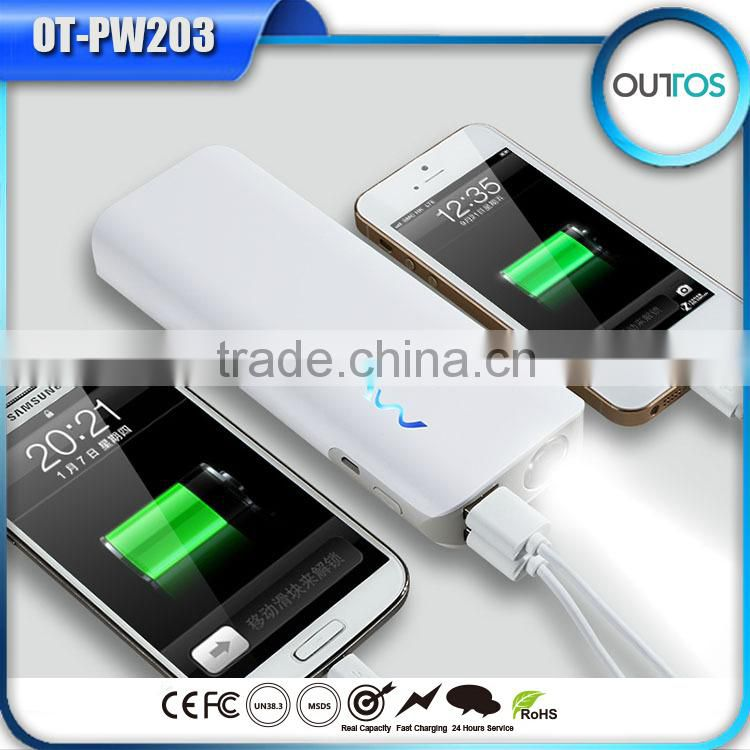 New design custom logo dual USB output 5V/2A promotion gift power bank 11000mah