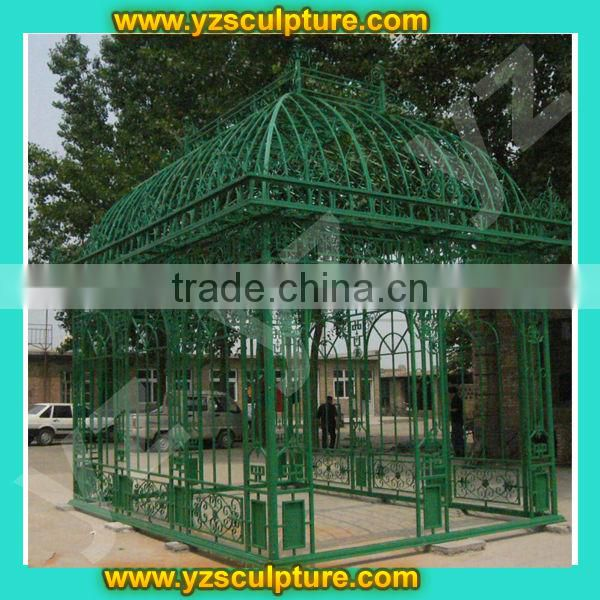 outdoor large metal iron gazebo frame