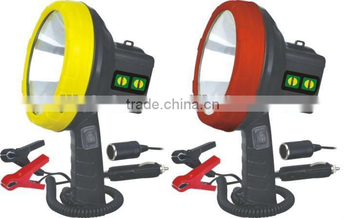 high brightness portable rechargeable halogen spotlight