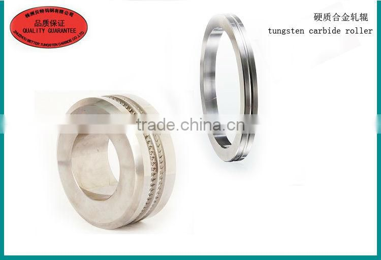 tungsten carbide grooved rollers