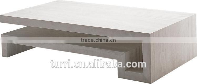modern white travertine marble living room coffee table for sale