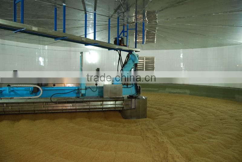 Loading unloading machine for malt house