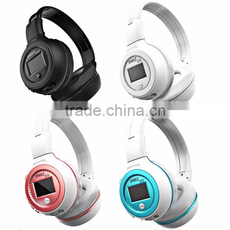 B570 Wireless Headphone Bluetooth Headset with FM Stereo LCD Screen TF Card with Microphone Support For iPhone Galaxy HTC