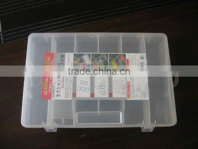 plastic general tool box with compartments