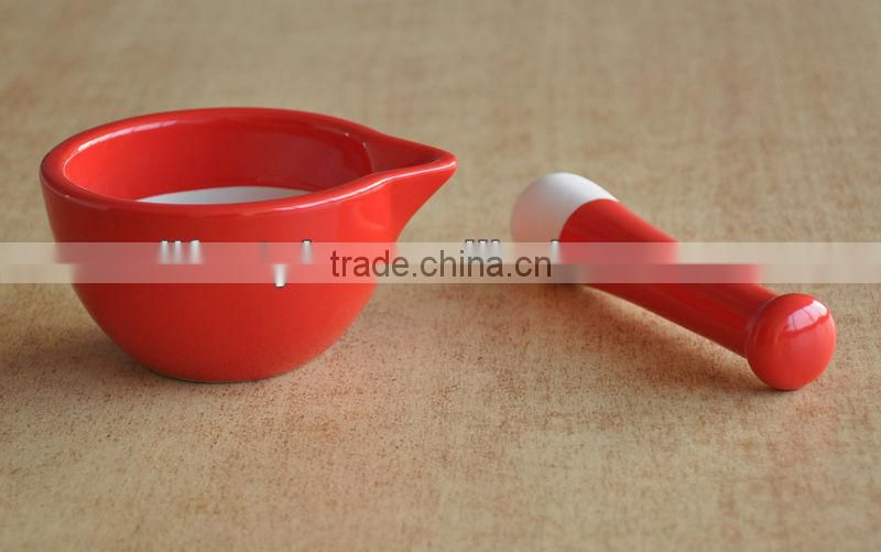 Ceramic mortar and pestle set