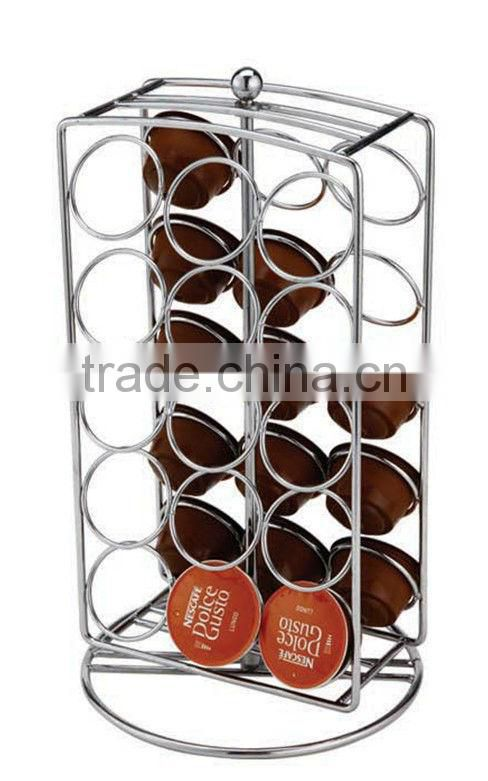 COFFEE CAPSULE HOLDER WITH STAINLESS STELL BASE