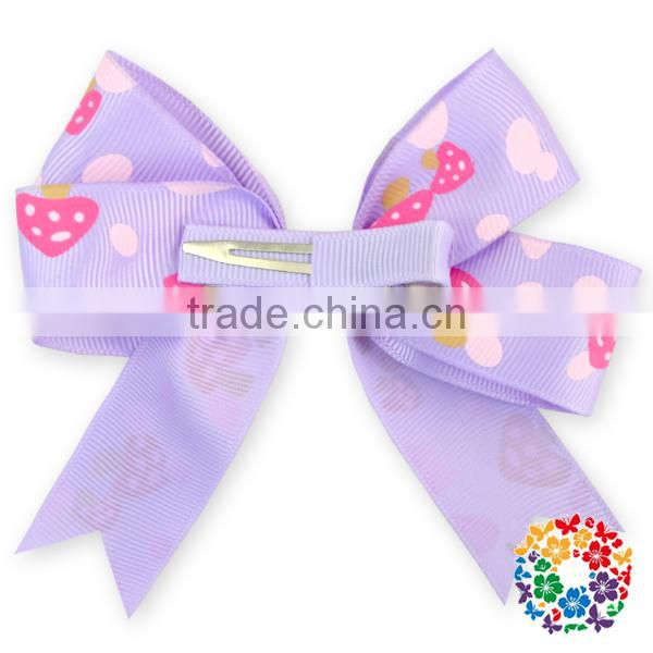 Pink White Dots baby boutique wholesale the ribbon boutique Hair clips hair accessories for kids
