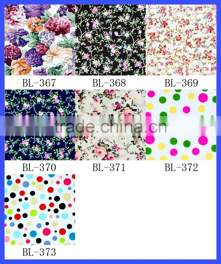 New Colorful floral printing 100% cotton fabric cloth material fabric cheap