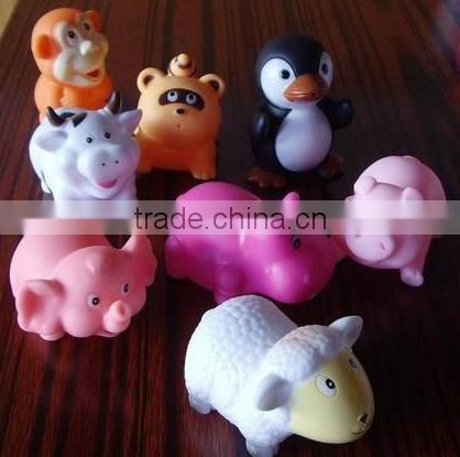 Promotional PVC cow shape baby tub swimming bath animal toy