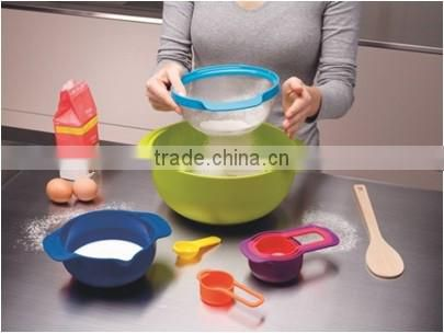 9pcs Multi-function Household Products Food Grade Measuring Mixing Bowl set