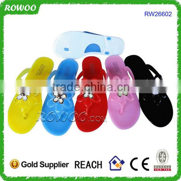 Fashion lady beach massage slipper, plastic massage slipper