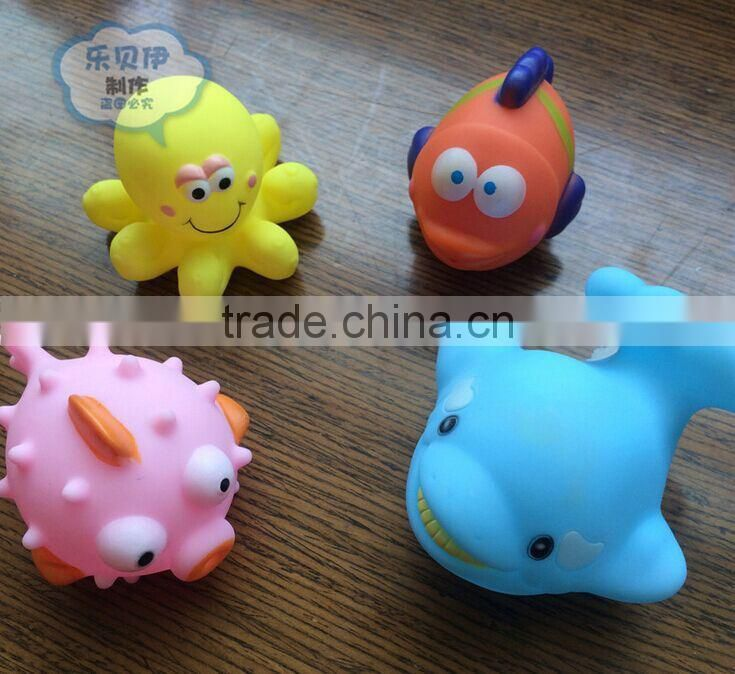 pinch pvc animal Bath Toy, hot sale make your own soft plastic vinyl toy, non-toxic squeeky bath toys