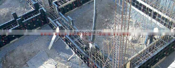 plastic formwork wall system for construction