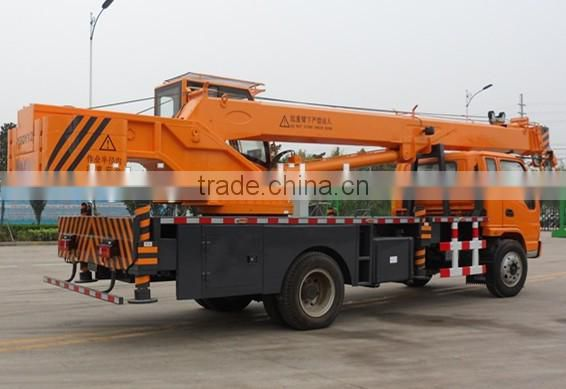CBL 12T four section boom small truck lift crane with Donfeng chassis