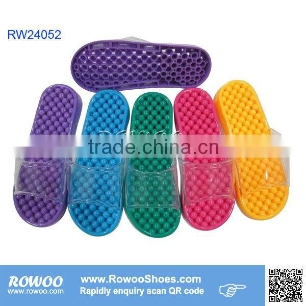 Colorful girls indoor massage slippers