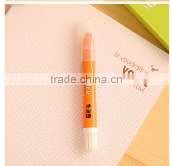 Cute solid highlighter pen , Korea stationery marker pen