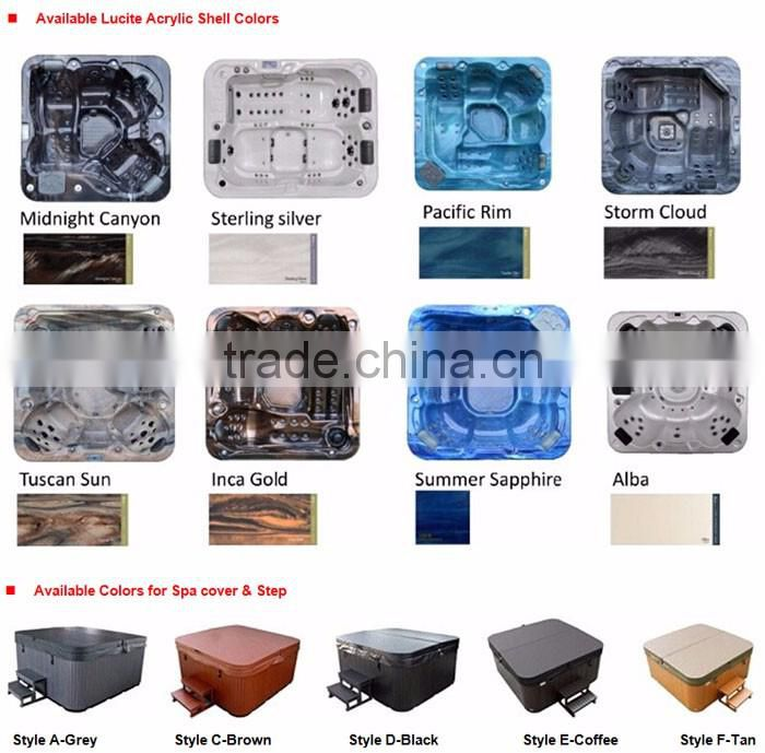 8 places Lucite Acrylic Hot Tub With 2 Loungers A860
