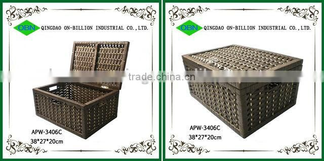 2014 New design large paper rope container storage vintage basket