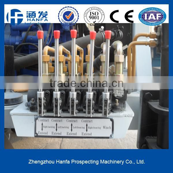 Wheel type high efficiency drilling rig for selling!HF150T multi-function water well drilling rig