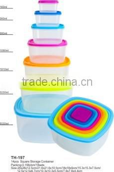 set of 10 combine container plastic storage box