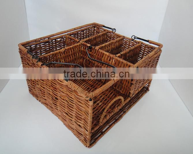 high quality 3-tier outdoor Caddy Organizer Plate Condiment Holder Portable picnic basket