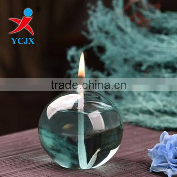 Wholesale Hand Blown Clear Glass Globe Kerosene Lamp