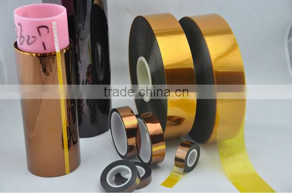 good quality blue film low tack polyimide protective film grid anti-static tape