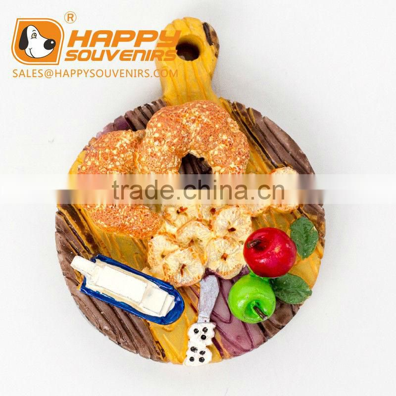 The Chopping Block Food 3D Resin Fridge Magnet for Home Decor,promotion gift