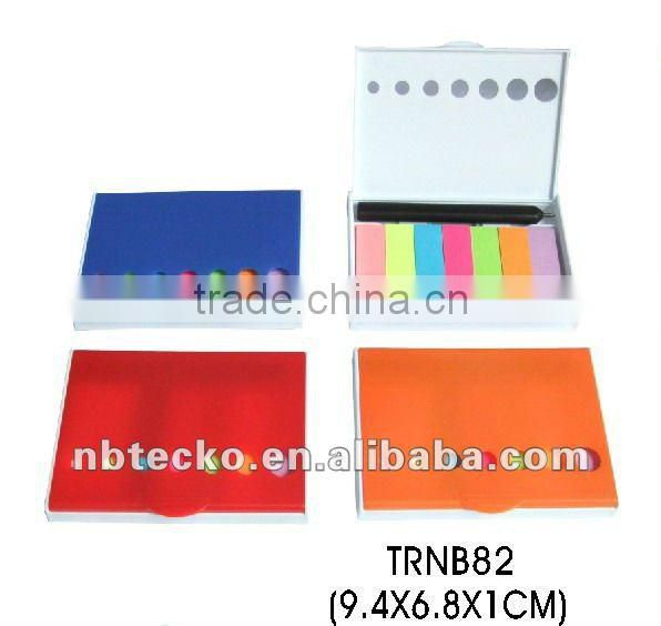 Best selling sticky memo pad with plastic box for promotion