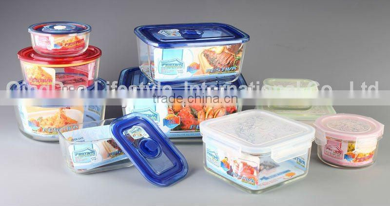 Pyrex Container with Airtight Lid, Rectangular Box, 1520ml