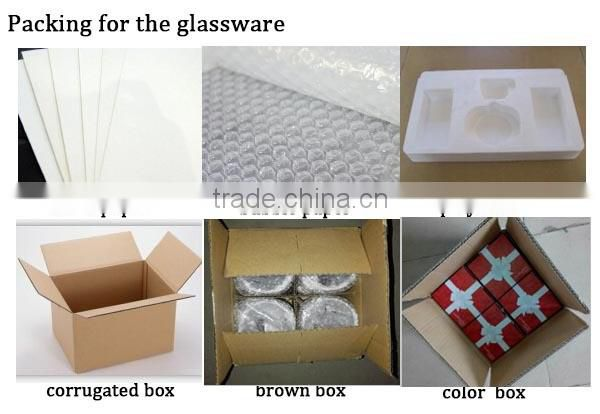 Clear Square Replacement Hand Decorated Glass Candle Holder