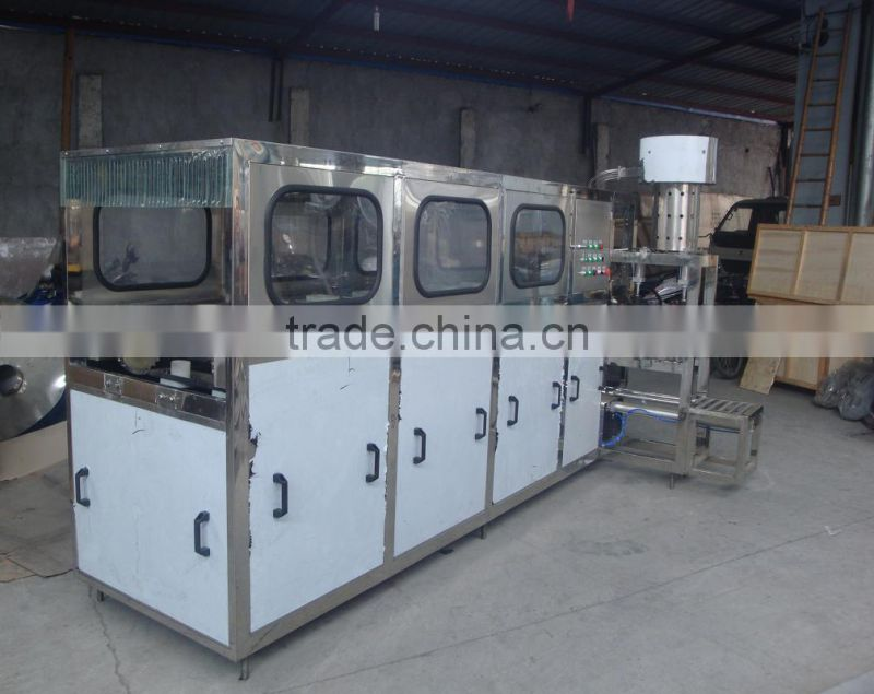 5 Gallon Washing Filling and Capping Machine (QGF-120) equipped with decapper