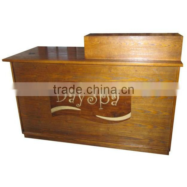 Nail salon reception desk Solid wood office table design receptionist table DS-9-M-YS005