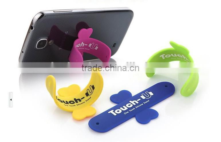 cute phone Touch-U silcone stand for promotion