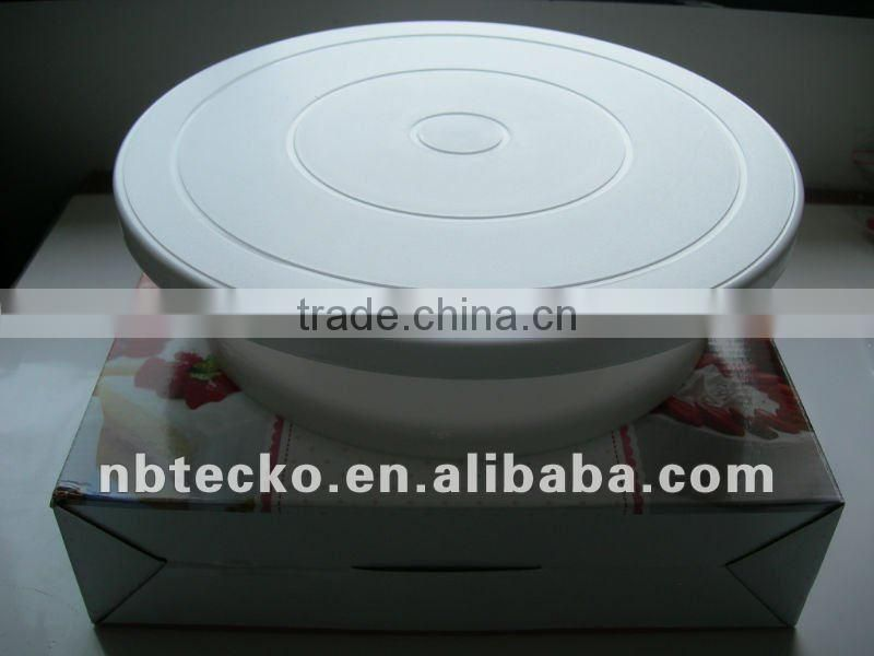 Plastic eco-friendly revolving cake stand turntable