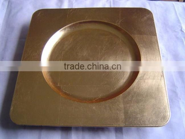 golden stylish indian centerpiece charger plate