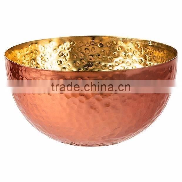 white metal copper bowl