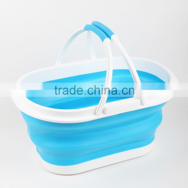 Wholesale food grade plastic Collapsible Basket