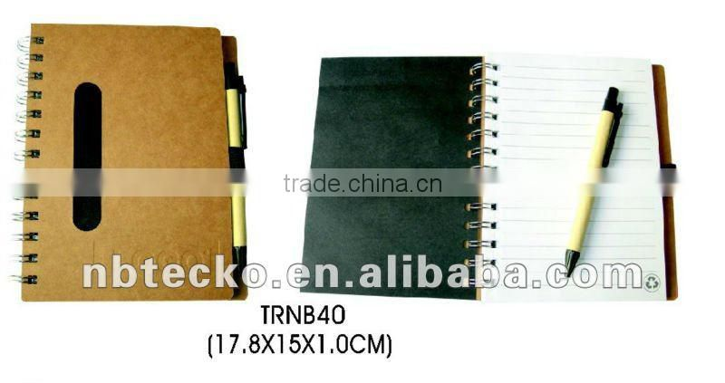 Lovely design ECO friendly Recycled spiral paper notepad