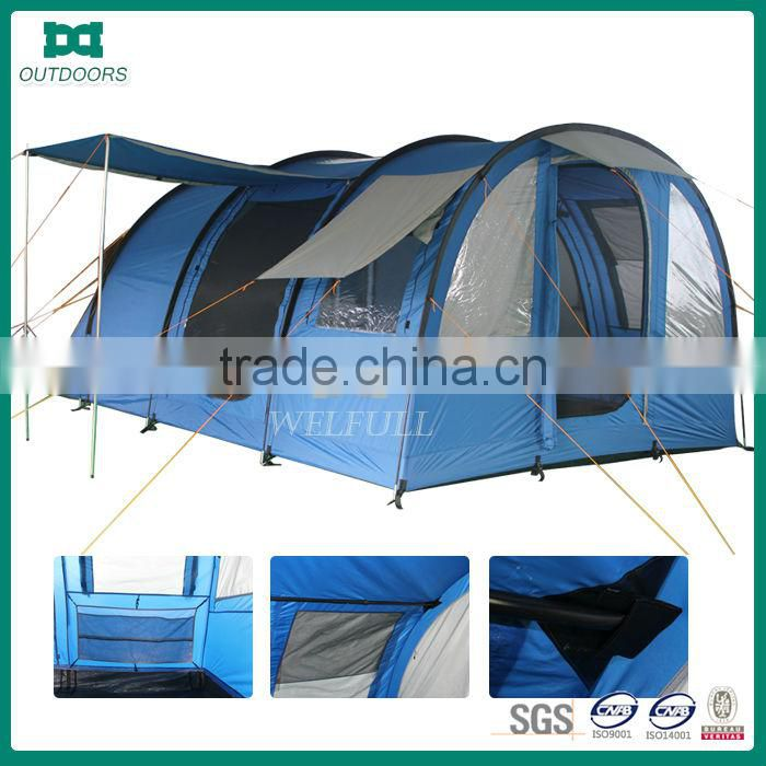 Giant blue outdoor waterproof camping tents