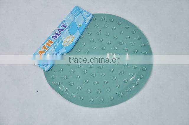 Circular pvc anti-slip bathroom mat