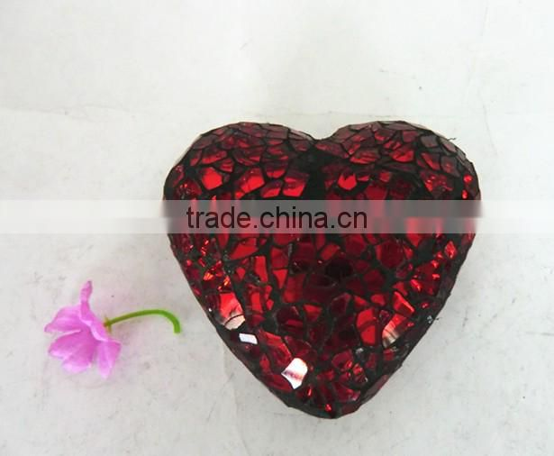 Christmas Decor Customized Glass Mosaic Hearts