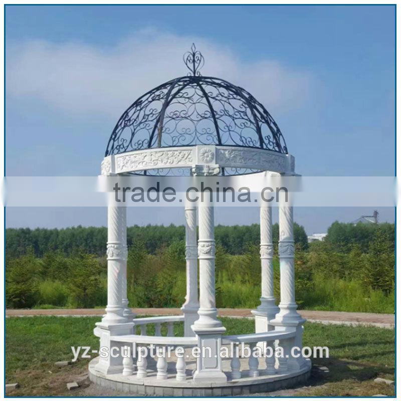 garden large size Western Marble Stone Gazebos for sale